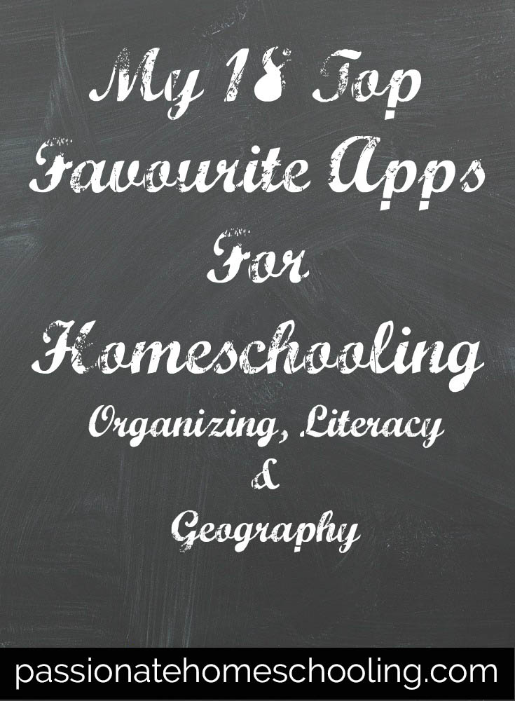 My 18 Top Favourite Apps For Homeschooling