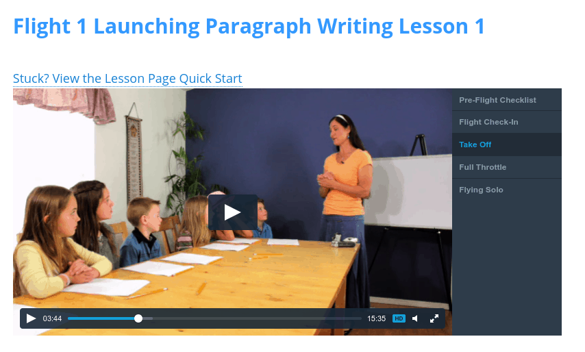 Paragraph Writing Lesson 1 Video