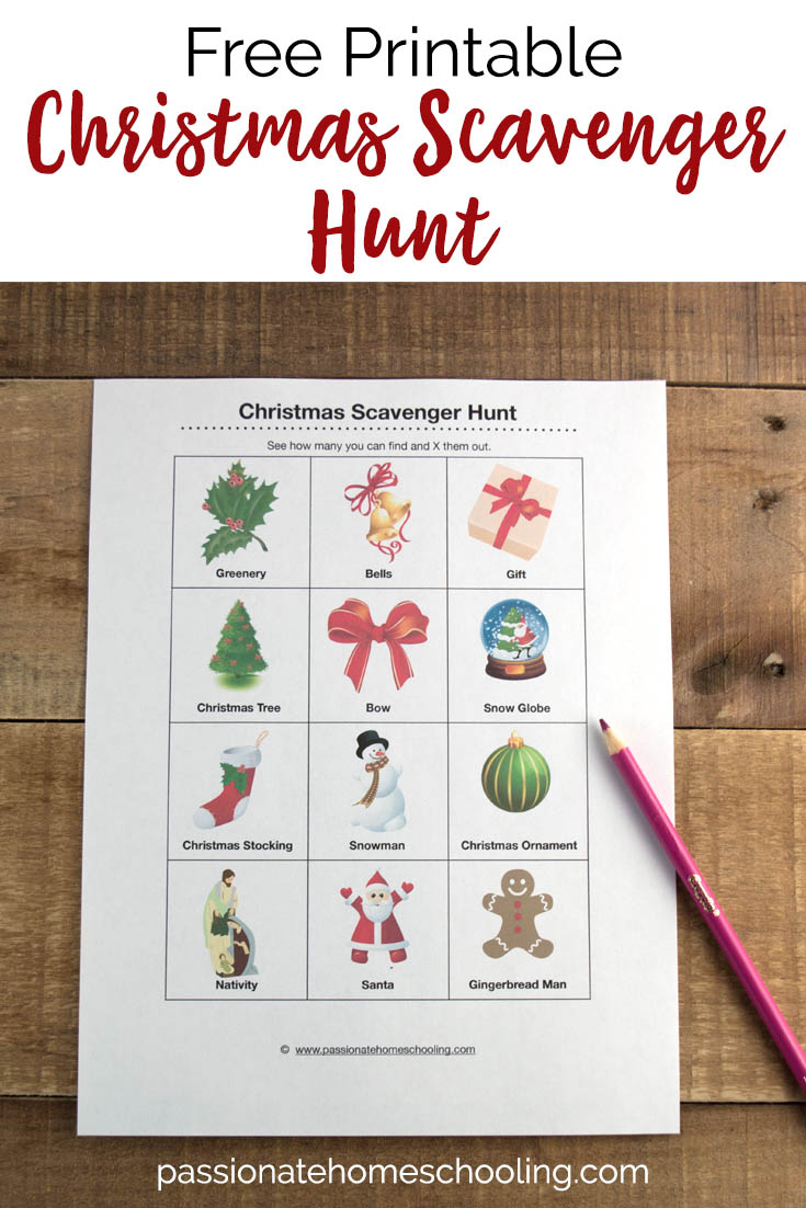 This free printable Christmas scavenger hunt is such a fun activity for kids! Simply print and go, see who can fill up their activity card first! #Christmas #scavengerhunt #freeprintable