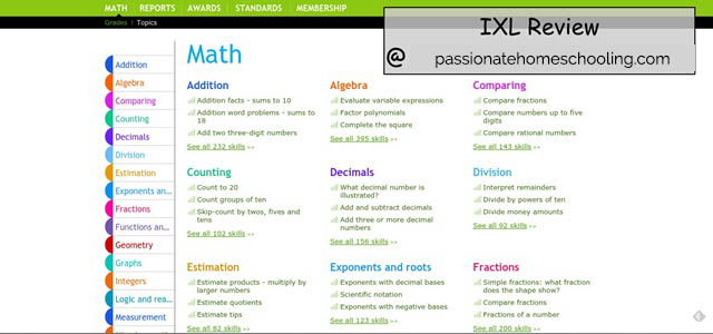 IXL Online ~ Review - Passionate Homeschooling
