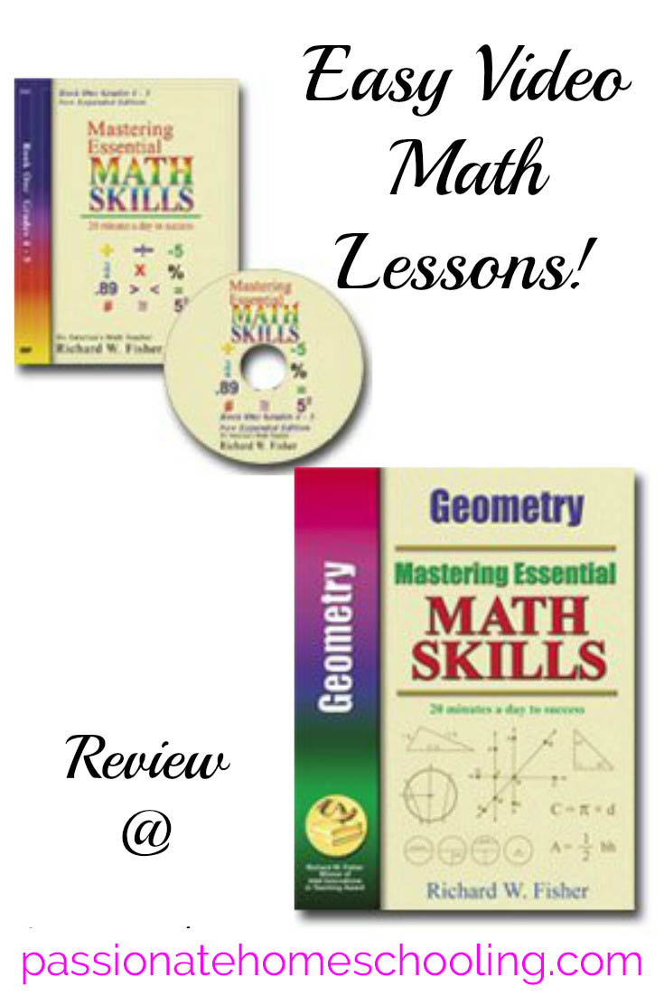Enjoy quick and easy math lessons that work with Math Essentials. A great homeschool math program that uses both video and workbooks!