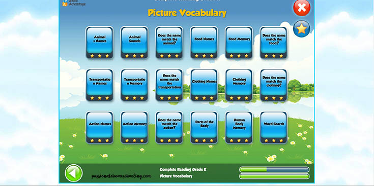 Picture Vocabulary Skills Kindergarten