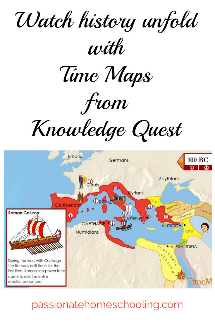 Watch history unfold with Time Maps from Knowledge Quest.