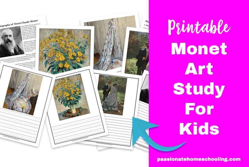 Monet Art Study For Kids