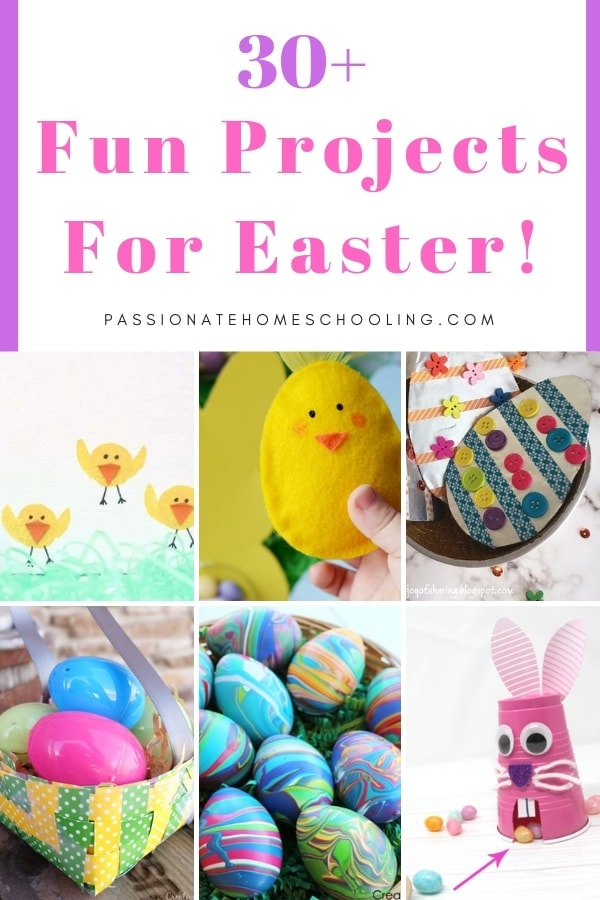 Easy Easter crafts for kids to make! Fun ideas for toddlers, preschoolers and big kids too. Including natural Easter egg dye, printables, bunny crafts, chick crafts, and more.