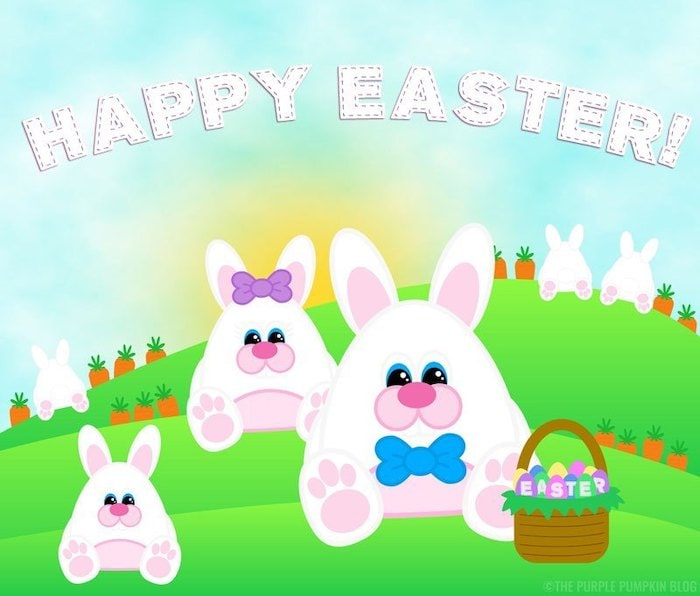Easter Bunny Paper Dolls
