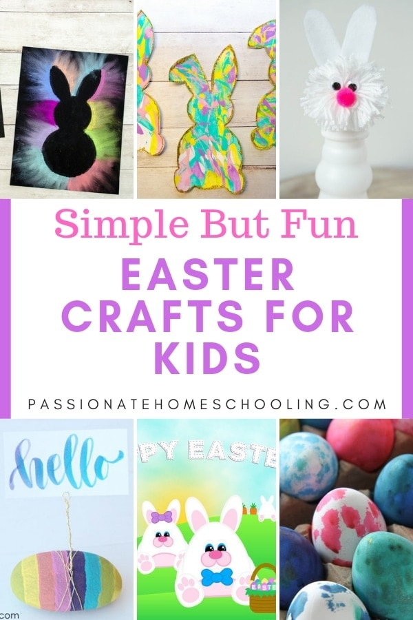 Great Easter craft project ideas with little to no prep work! Have fun with these simple Easter crafts your kids will love.