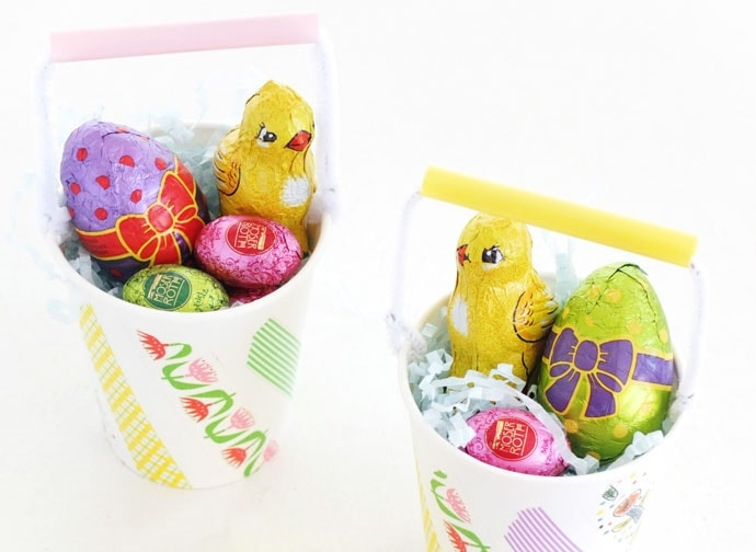 Mini Easter Basket Cups