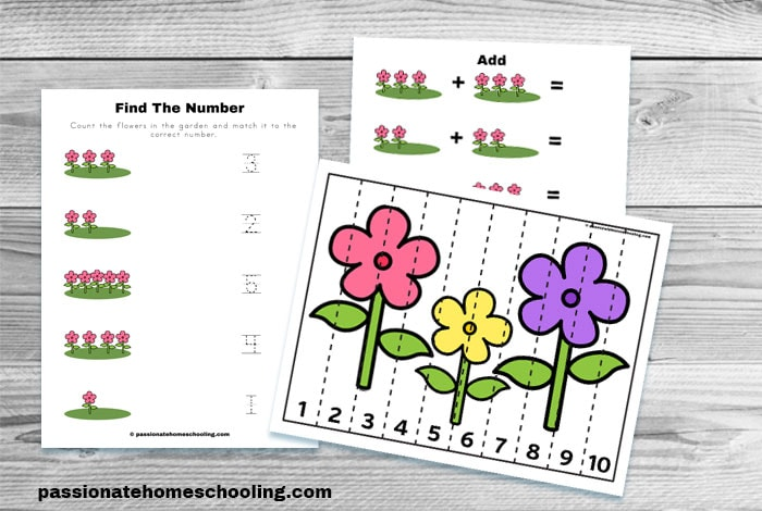 Free Flower Counting Math Worksheets