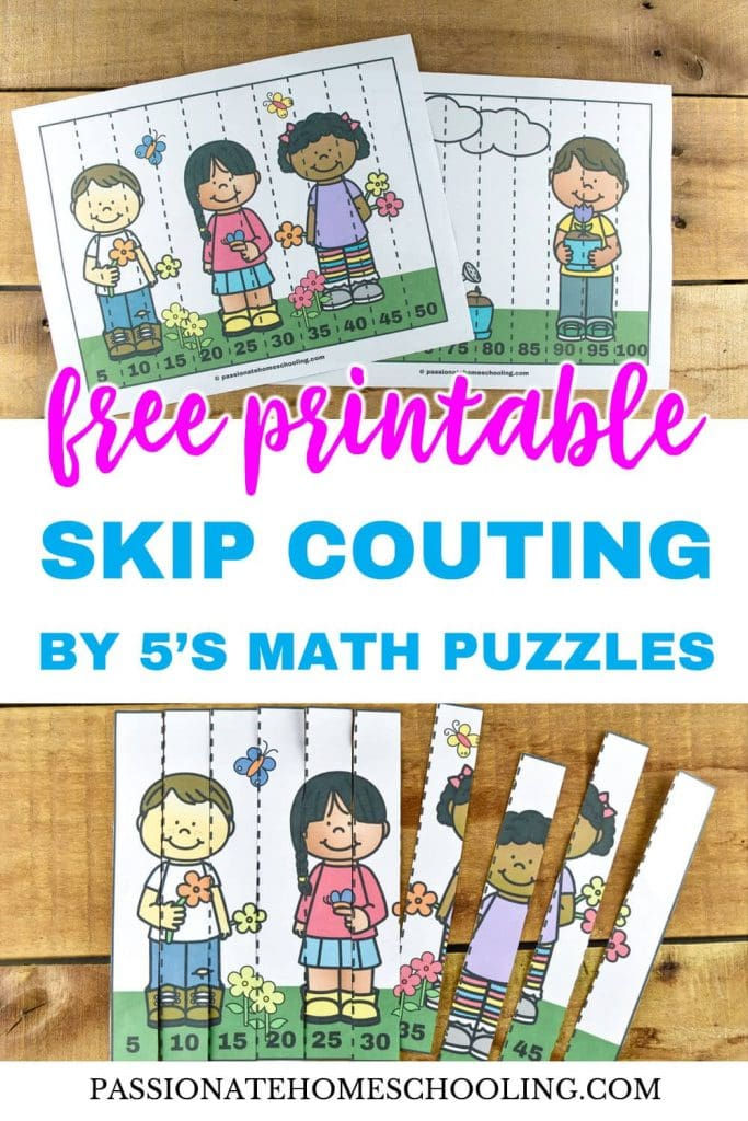 Free Printable Spring Skip Counting By 5 Math Puzzles