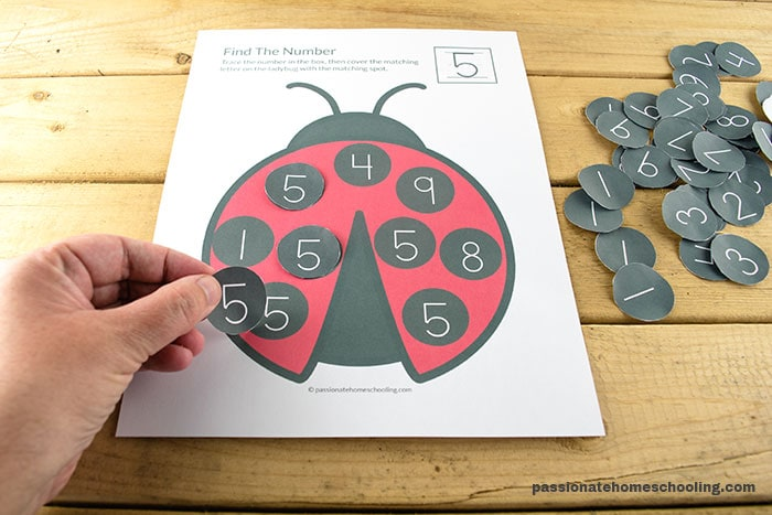 Fun Number Matching 1-10 Activity For Preschoolers