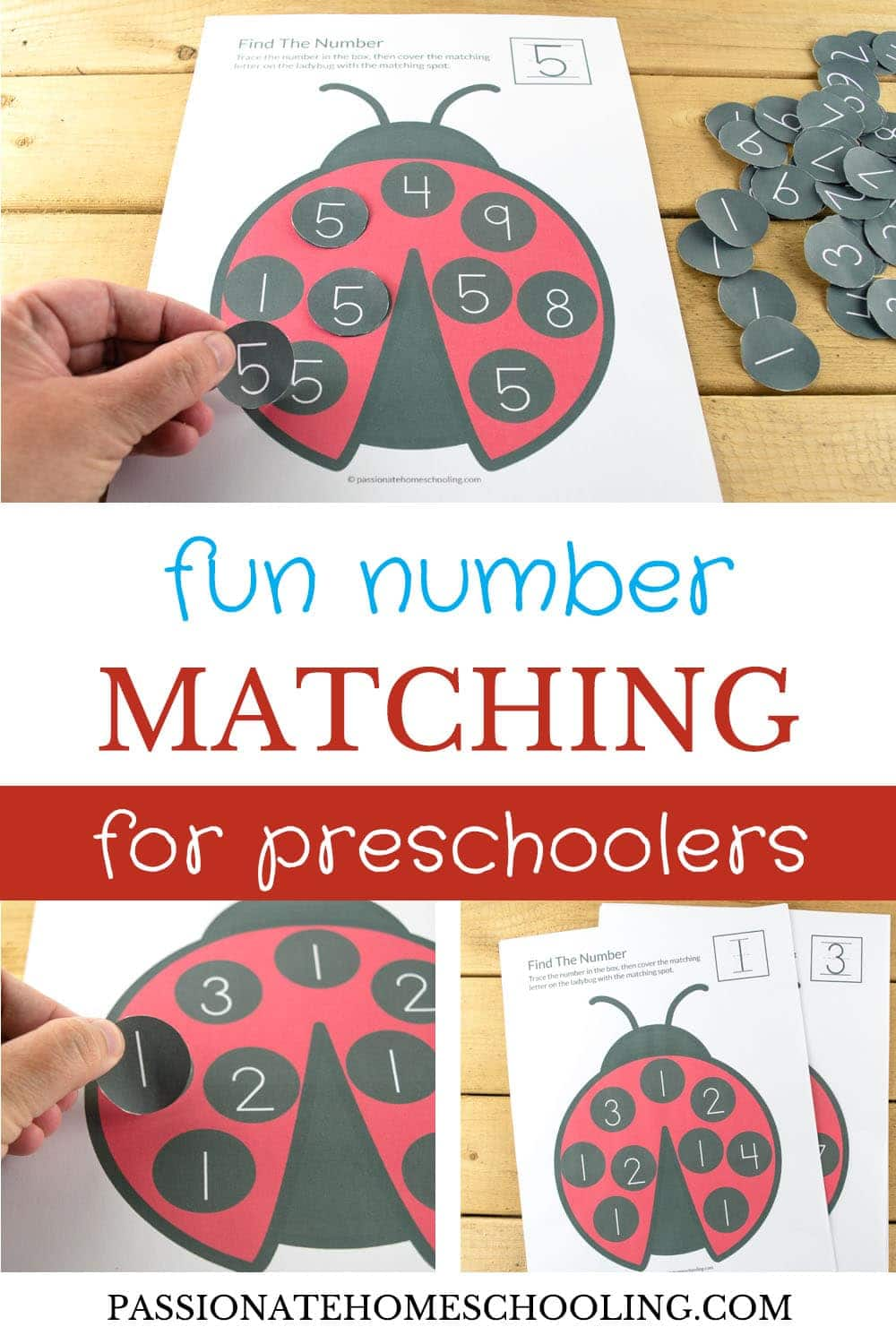Fun Number Matching For Preschoolers