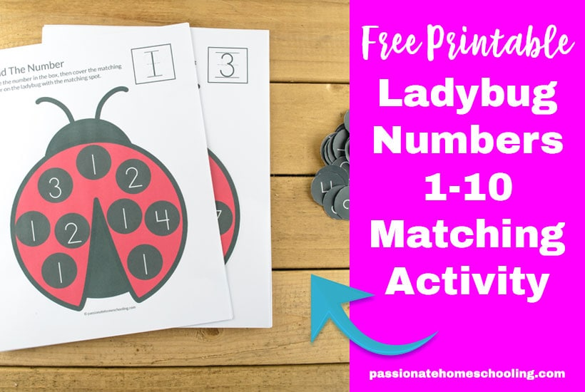image about Free Printable Numbers 1 10 called Totally free Printable Ladybug Range Matching 1-10 Game