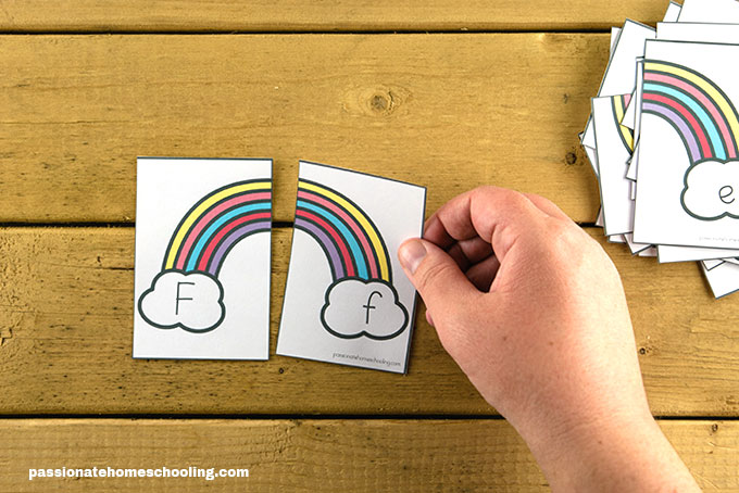 Rainbow Letter Matching Puzzles