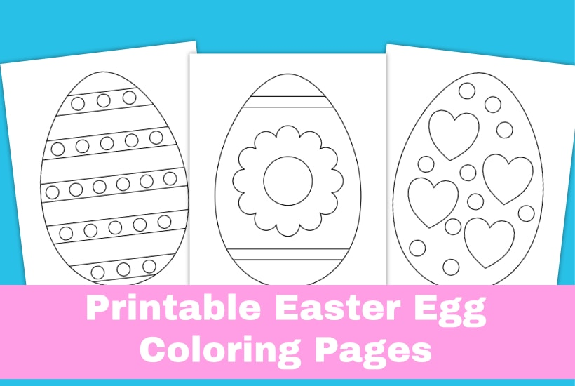 Printable Easter egg coloring pages sample image.